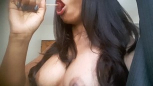 Sweet girl sucking her big candy