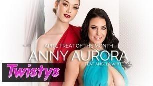 Twistys - Skinny blonde Anny Aurora worships Angela Whites big natural tits