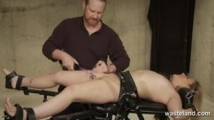 Dominant Male Stimulates Bound Submissive With Electricity And Dildos