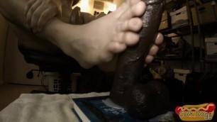 Putting My Feet to Work (Sexy BBC Dildo Footjob)