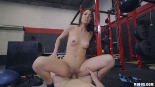 Mofos - IKnowThatGirl Doggystyle Bang Petite Aubrey Rose On Gym Bike sex video