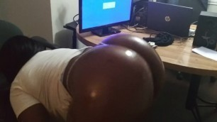 Chocolate booty bouncing