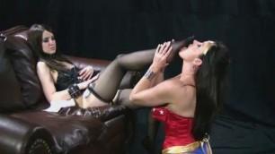 Christina Carter as Wonder Woman Sexual Lesbians
