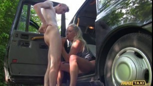 Michelle Thorne Lucky Student Fucked by Busty Blonde MILF FakeTaxi