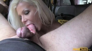 FakeTaxi Hot Estate Agent Gets Creampied Sex in the taxi car