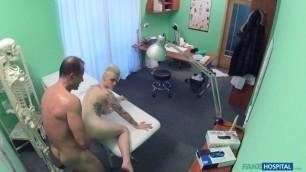 Big Tattoo Nude Blonde Mila Milan Fucking with Doctor FakeHospital