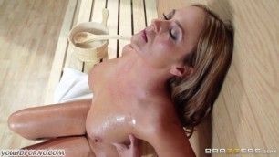 The Adult Woman Elexis Monroe Has Sex With A Young Guy In The Sauna Sweet Girls Sex Brazzers Sensual Blowjob