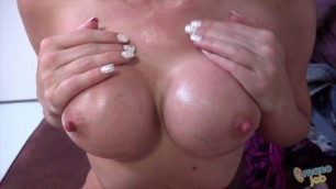 Shawna Lenee Amazing Girl with oil appeases his dick