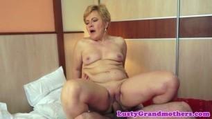 European Experienced grandma banged in various poses