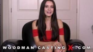 Lana Rhoades beautiful brunette on Woodman Casting