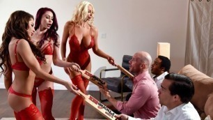 Brazzers - Monique Alexander, Madison Ivy And Nicolette Shea In 1 800 Phone Sex: Line 8
