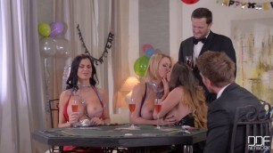 Cathy Heaven Jasmine Jae and Leigh Darby in Hot Group Sex