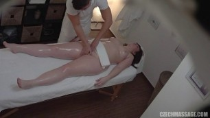 Czech massage for a chubby girl and petting her pussy 310