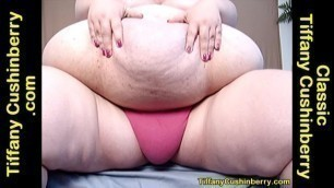 Big 420+ Pound Belly Play, Up Close And In Your Face - Love The Weight Gain