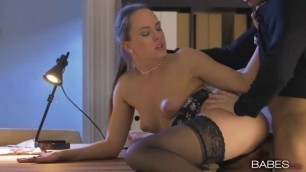 Sexy Hungarian Blue Angel in Lingerie Set Gets Pounded Hard in the Office