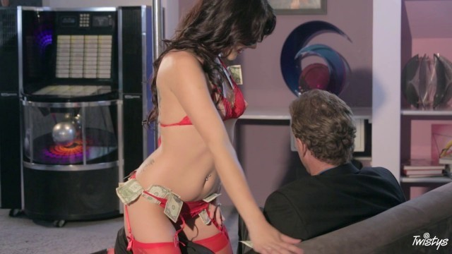 Brunette in red sexy lingerie Megan Sage Now Show Me The Money