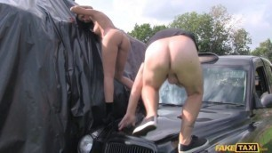Amazing Brunette Perfect tits and great arse FakeTaxi
