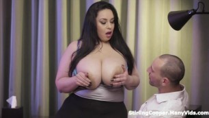 Anastasia Lux Jerks Him With Her Huge Tits