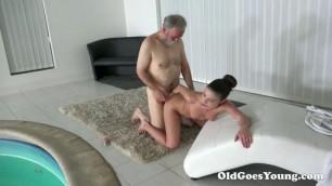 Fantastic Brunette Anita Bellini Sex with old man OldGoesYoung