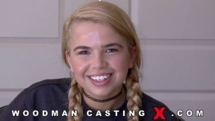 WoodmanCasting Alina West girl hard fuck at casting but she is happy