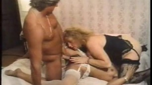 The vice in the belly Karin Schubert fucks with a girl and with a guy