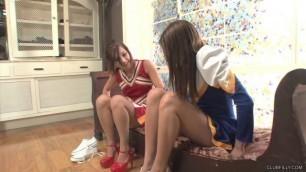 Fiery Lesbian Cheerleaders Cassandra Nix and Maryjane Johnson