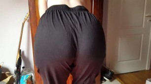 Hot Tattooed and Pierced Goth Girl Booty Showing and Ass Wedgie in PJ Pants