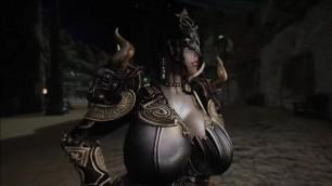skyrim Lust mask female knight 3P