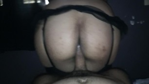 Ricos sentones en mi verga de mi novia puta en lenceria sexy-18yo-amateur