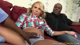 Aria Austin Gets her Pussy and Ass Drilled by BBC