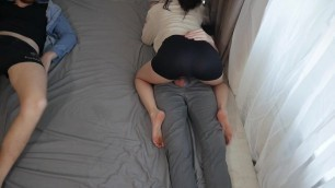 I sucked off my boyfriend, sat on his friend and fucked