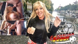 GERMAN SCOUT - FIT MATURE MONICA PICKED UP AND FUCKED ON STREET