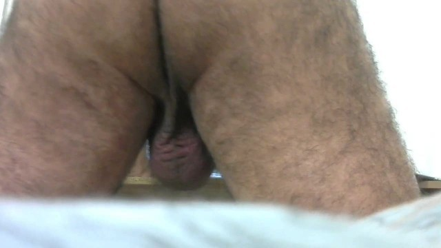 Daddy's ass and balls close view - ilovetobenaked