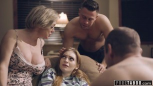 PURE TABOO Step-Parents & Step-Bro Welcome New Sister