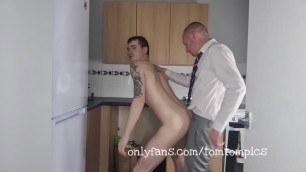 Ginger in shirt and tie barebacks a naked scally