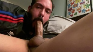 Regular stops by for weekly throat fuck