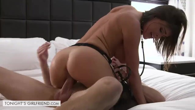 Sexy Brunette Krissy Lynn Lets Her Client Take Control