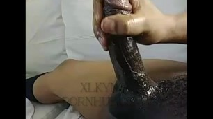 Stroking one out moaning loud cumming