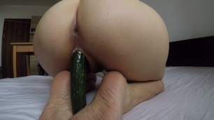 CUCUMBER IN PUSSY | STRETCHING AND FUCKING MY PUSSY - ANGELSBABY_XXX