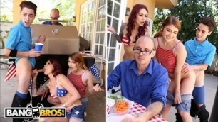 BANGBROS - 4th Of July Threesome With Monique Alexander, Adria Rae & JECL