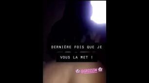 Tootatis French ebony Instagramer sextape. Doggystyle pov creampie teen