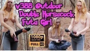 FREE PREVIEW v388 Outdoor Double Horsecock Futa Girl