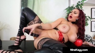Curvy Young Lady Nina Kayy Teases Her Tiny Dick Fans!