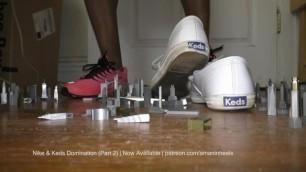 amaninheels   Giant Crossdresser   Keds and Nike Domination (Part 2-Teaser)
