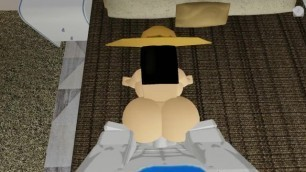 Roblox girl gets fucked from behind