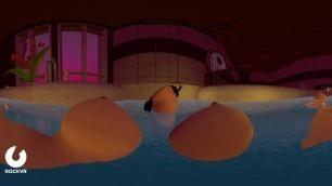 In GIantess Kim K's Tub Part 2 - 3D-360 VR - patreon.com/VirtualG